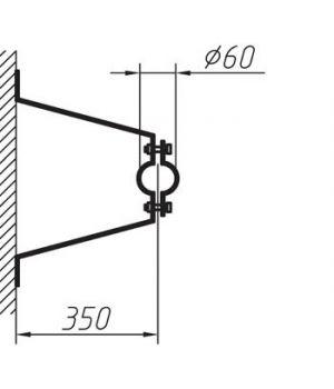 Кронштейн для мачты 0,35м